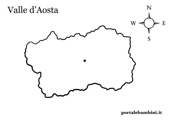 Cartina Della Valle D Aosta Da Stampare.La Val D Aosta Materiale Didattico Portalebambini It