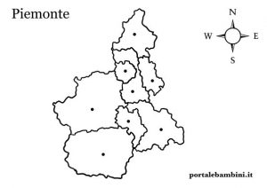 Cartina Dettagliata Piemonte.Il Piemonte Approfondimenti Quiz E Materiale Didattico Portalebambini It