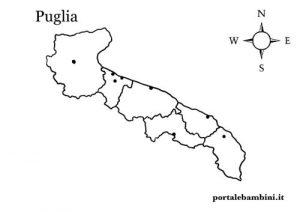 Cartina Muta Puglia.La Puglia Approfondimenti Quiz E Materiale Didattico Portalebambini It