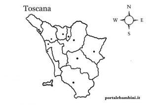 Cartina Toscana Da Stampare.La Toscana Approfondimenti Quiz E Materiale Didattico Portalebambini It