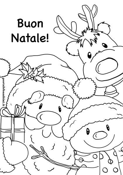 Disegni Da Colorare Gratis Di Natale.Disegni Di Natale Da Stampare E Colorare Portalebambini It