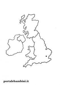 cartina muta inghilterra regno unito