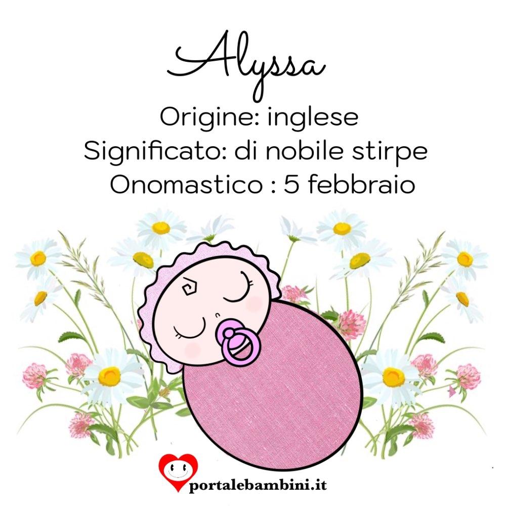 alyssa origine e significato del nome