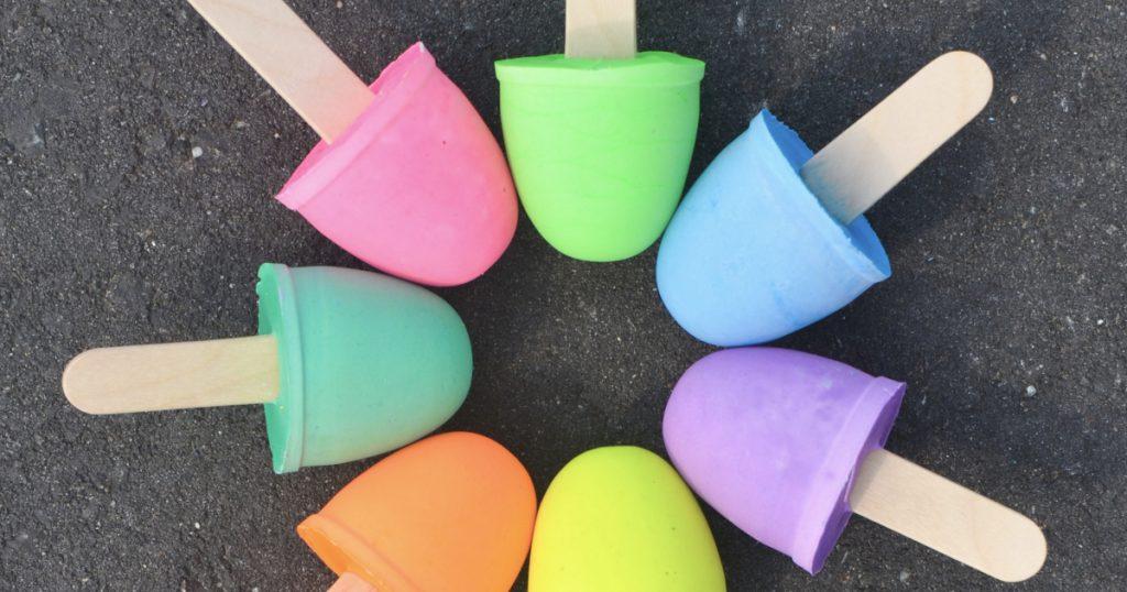 ghiaccioli di gesso colorato