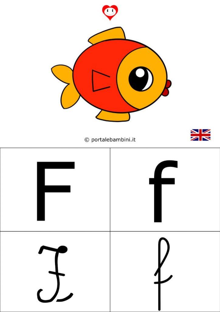 alfabetiere inglese da stampare f