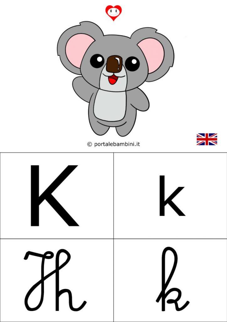 alfabetiere inglese da stampare k