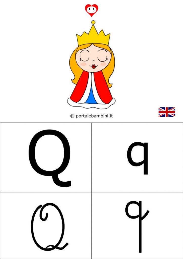 alfabetiere inglese da stampare q