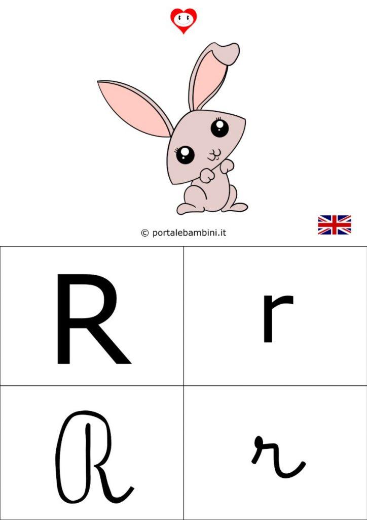 alfabetiere inglese da stampare r