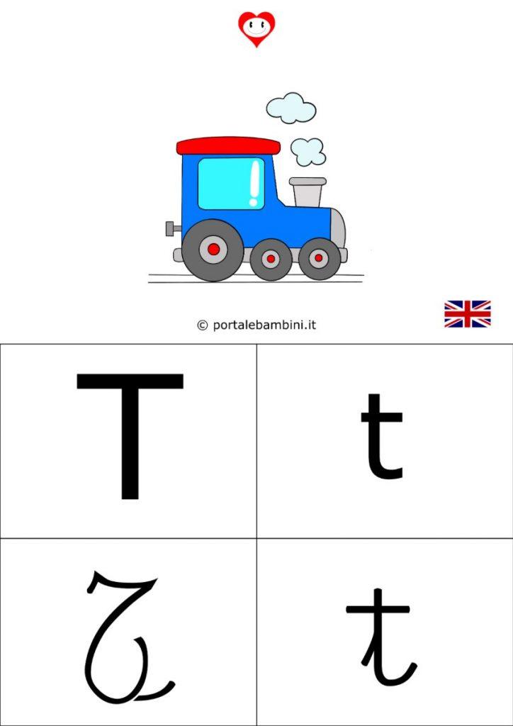 alfabetiere inglese da stampare t