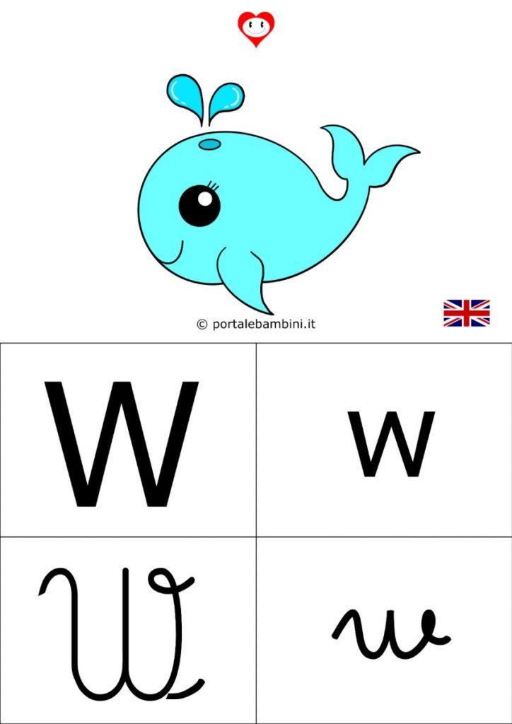 alfabetiere inglese da stampare w
