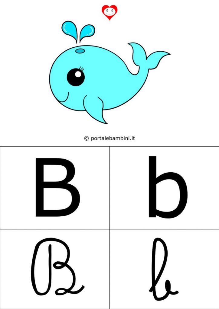 alfabetiere da stampare lettera b