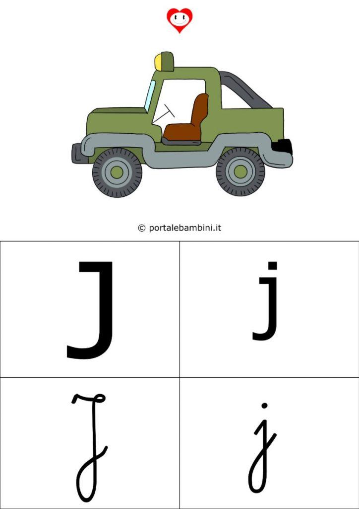 alfabetiere da stampare j