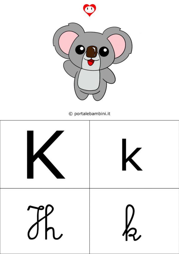 alfabetiere da stampare k