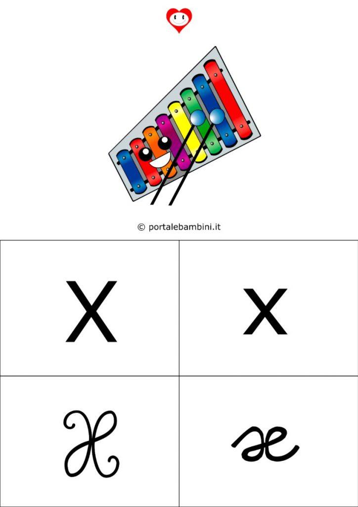 alfabetiere da stampare x