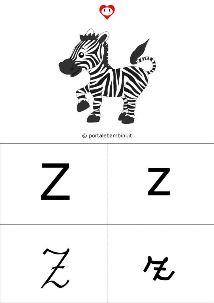 alfabetiere da stampare z