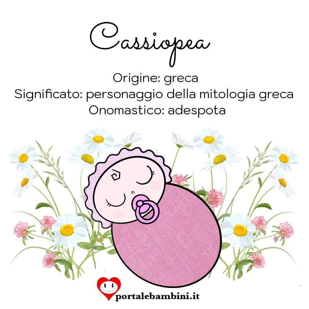 Cassiopea origini e significato del nome