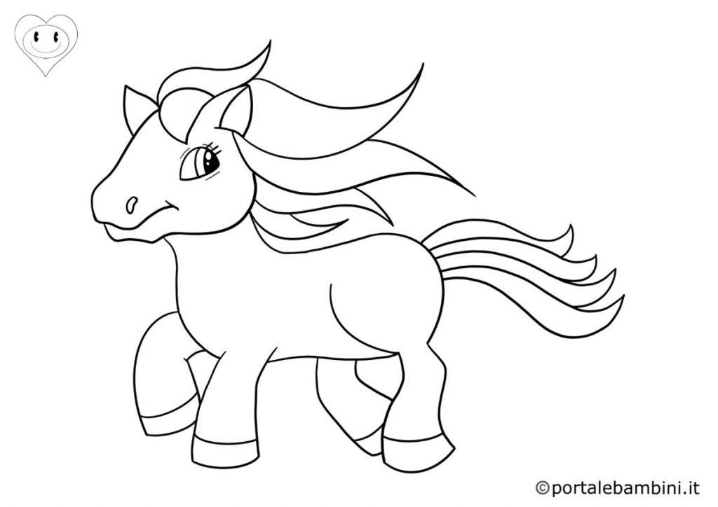 cavalli da colorare 3