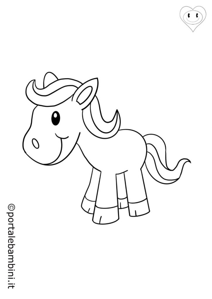 mammiferi da colorare cavalli