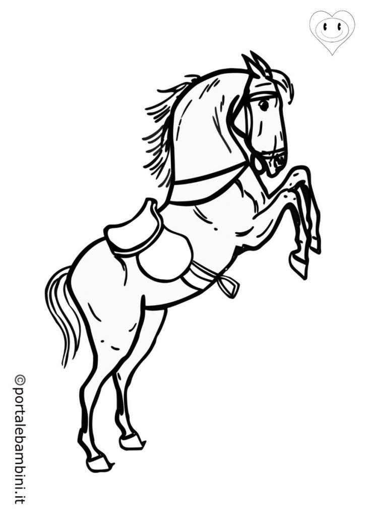 cavalli da colorare 6