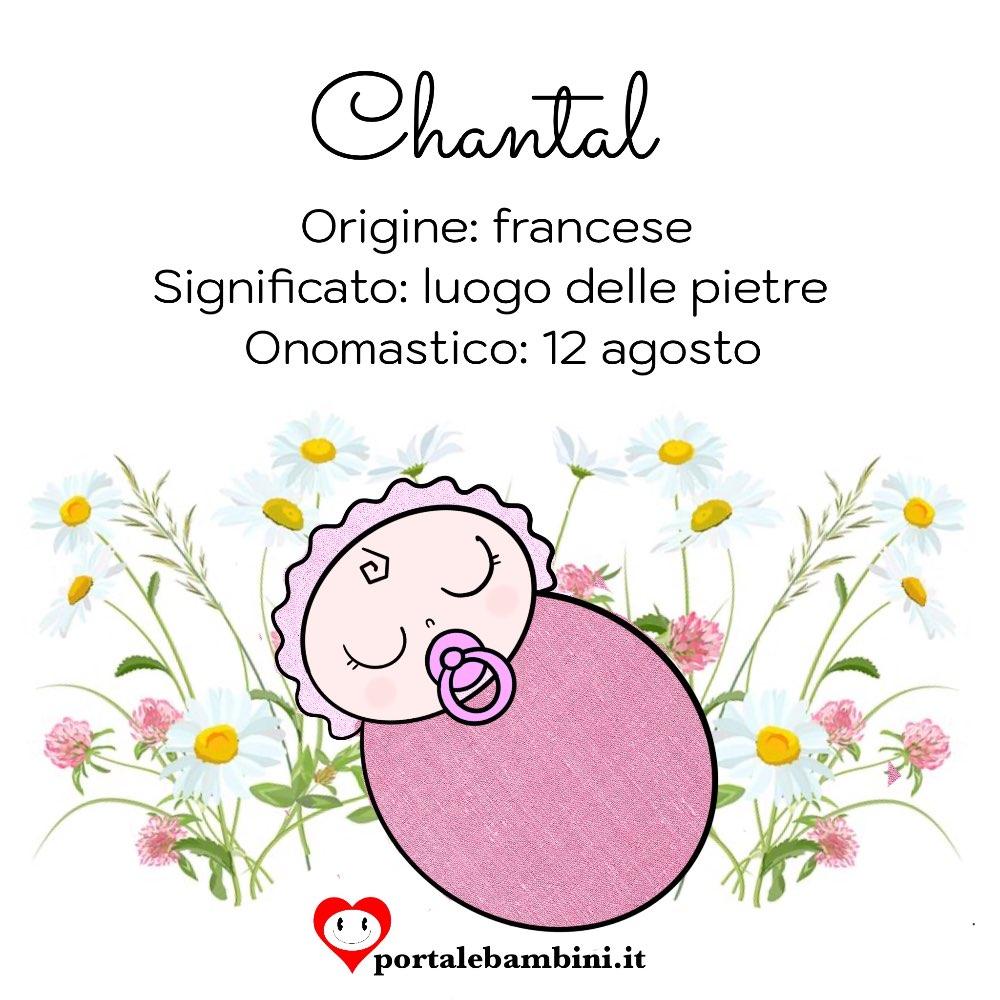 chantal significato e origine del nome