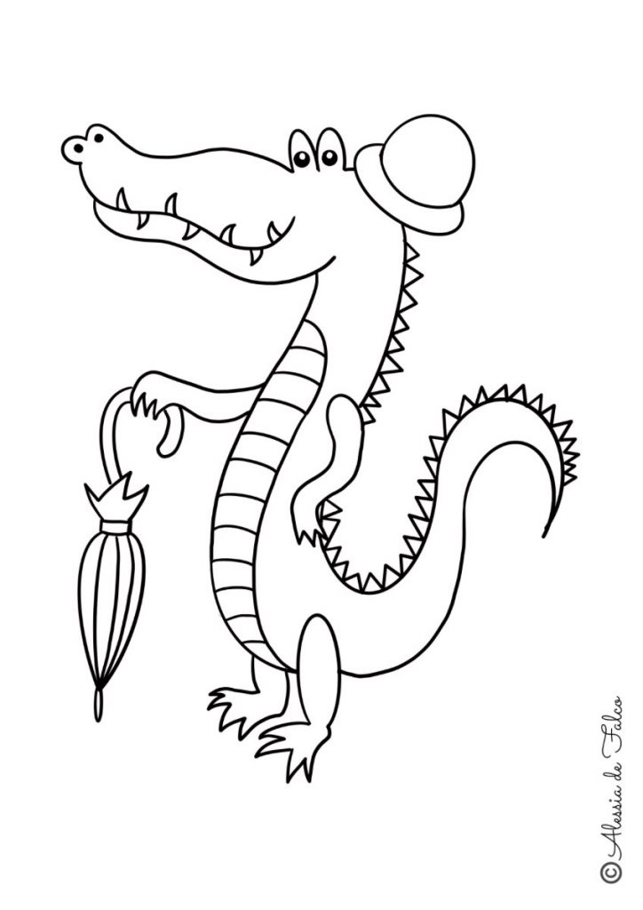 coccodrilli da colorare