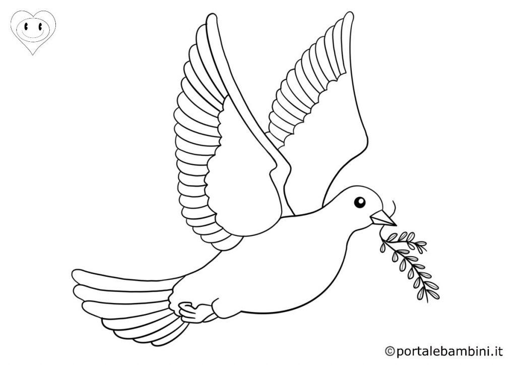 colombe da colorare 4