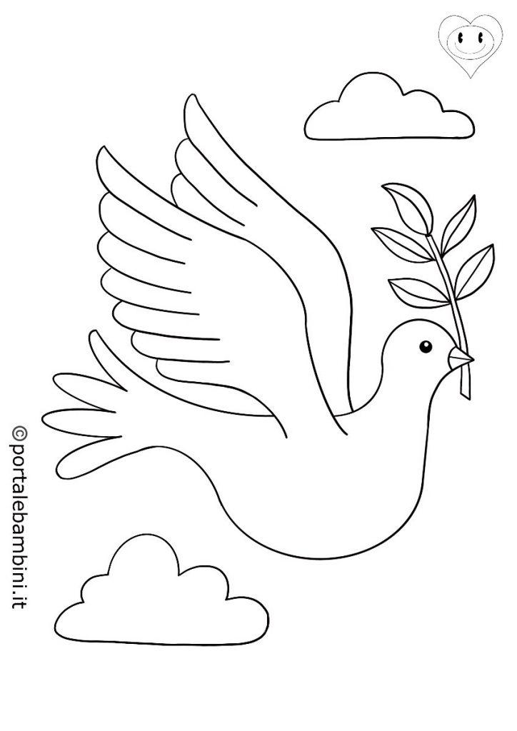 colombe da colorare 1