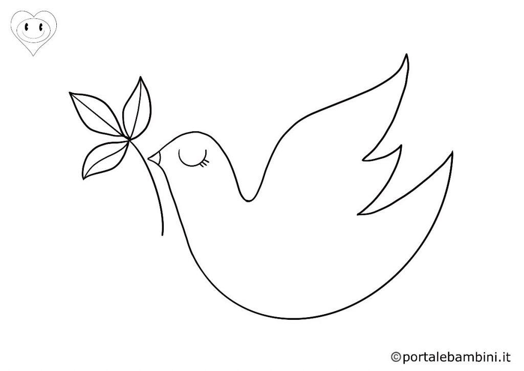 colombe da colorare 5
