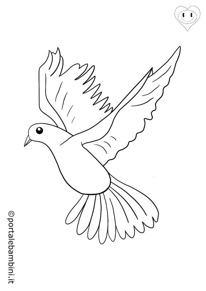 colombe da colorare 2