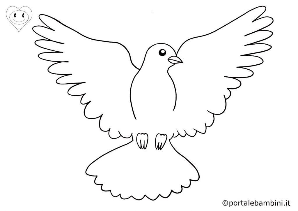 colombe da colorare 6