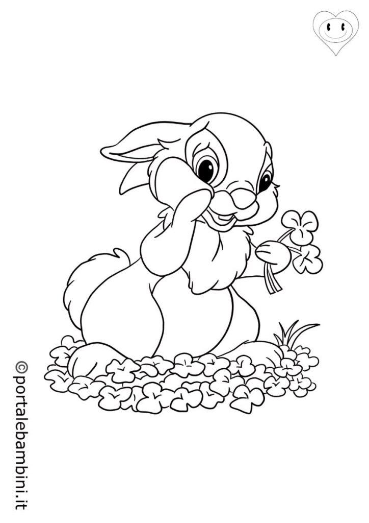 conigli da colorare 1