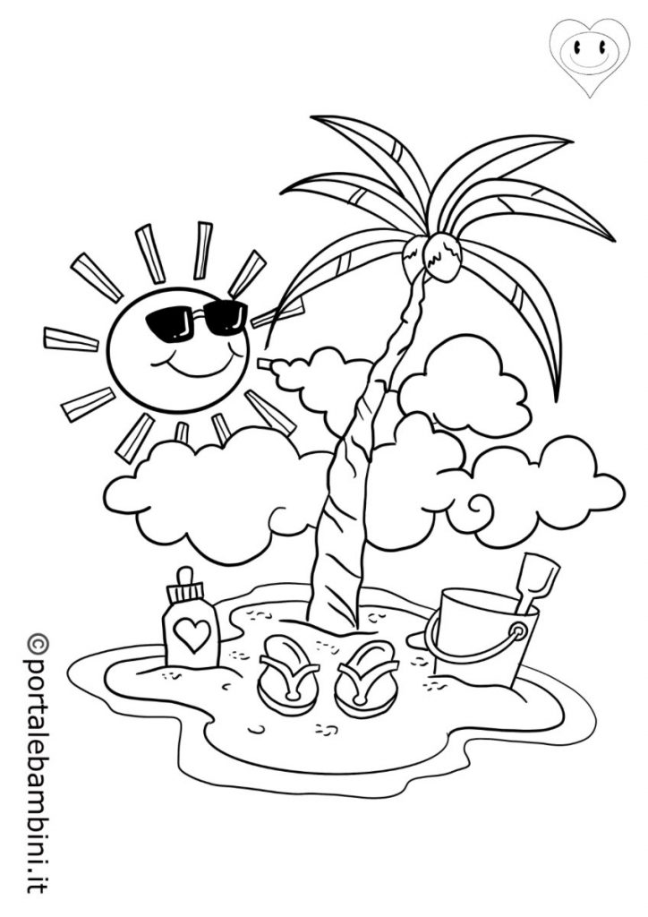 disegni sull'estate da colorare 3