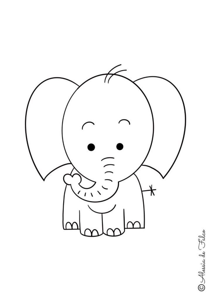 elefanti da colorare 3