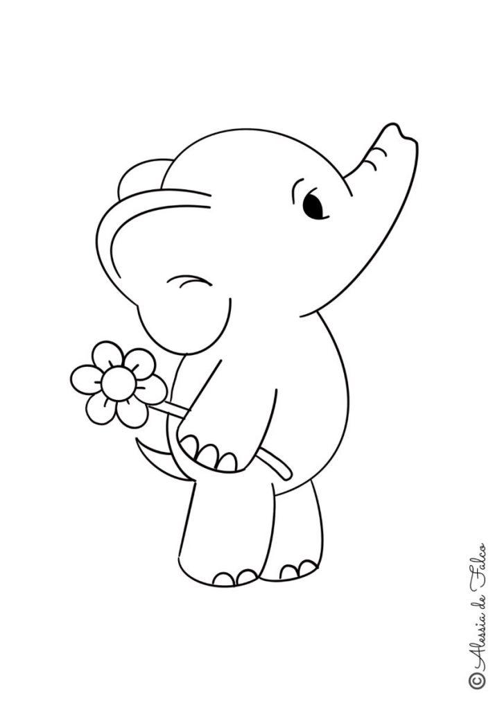 elefanti da colorare 1