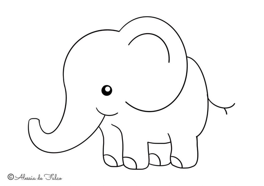 elefanti da colorare 4