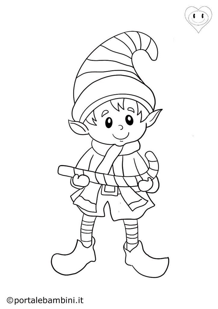 elfi da colorare 3