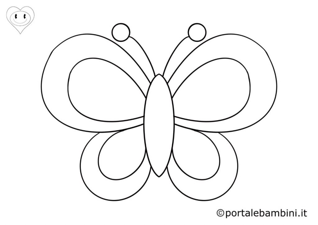 farfalle da colorare 4