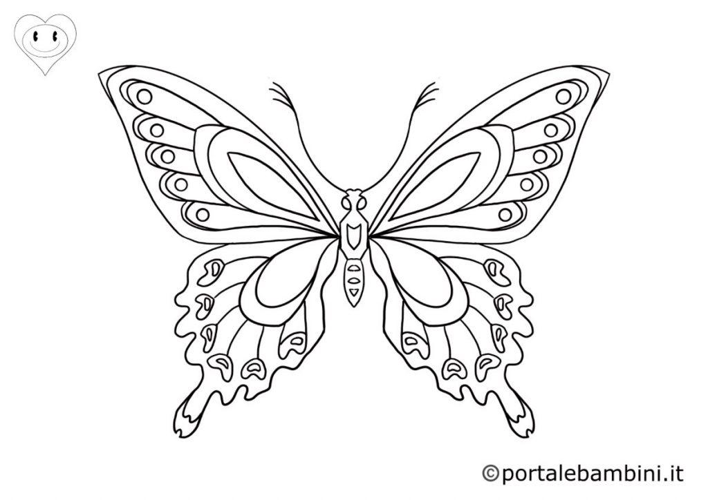 farfalle da colorare 5