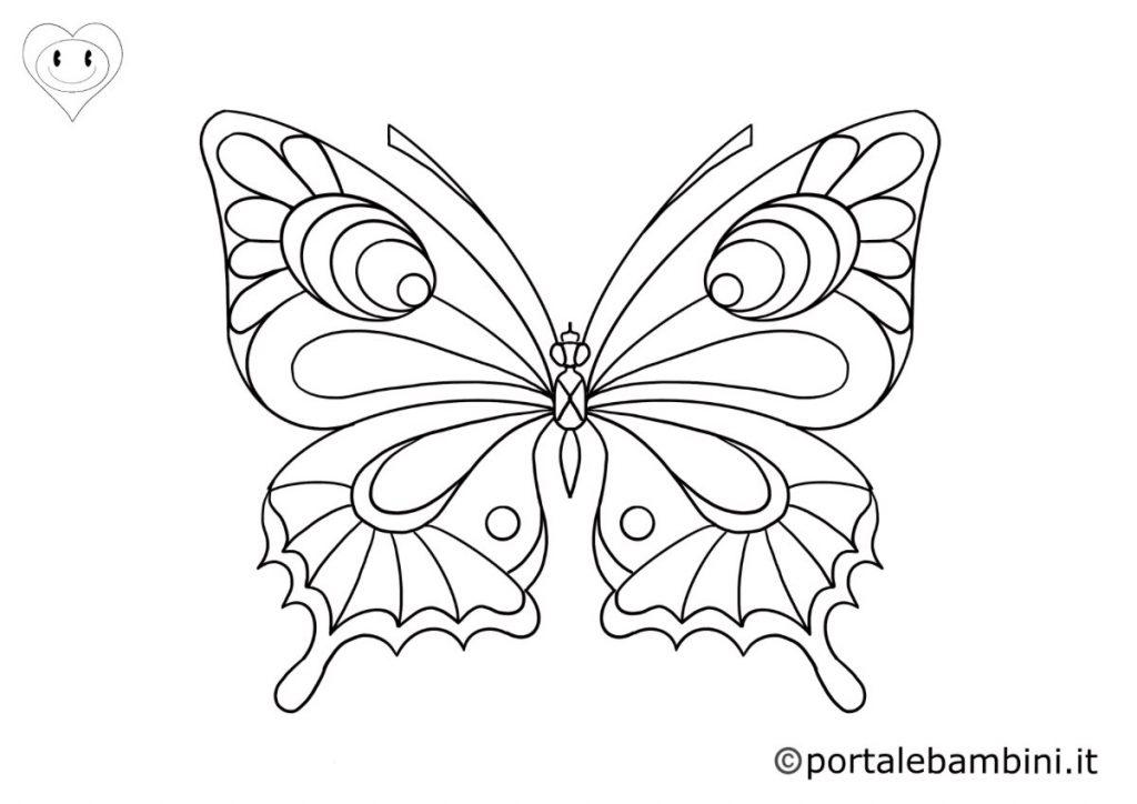 farfalle da colorare 6