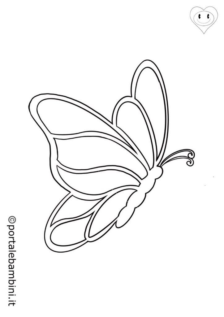 farfalle da colorare 2
