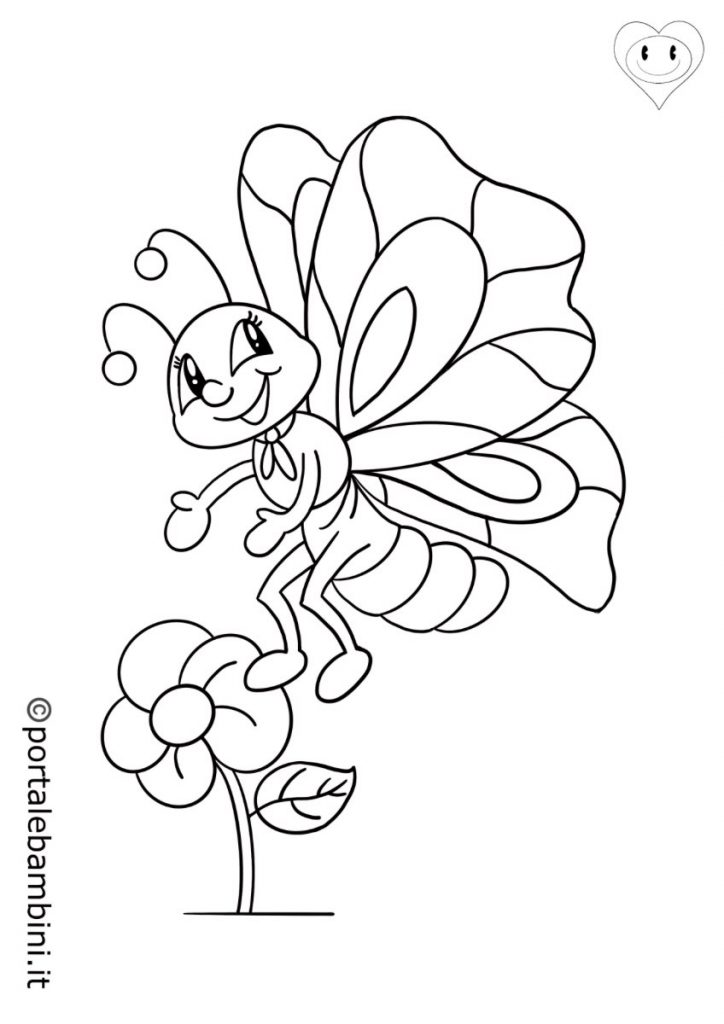 insetti da colorare farfalle