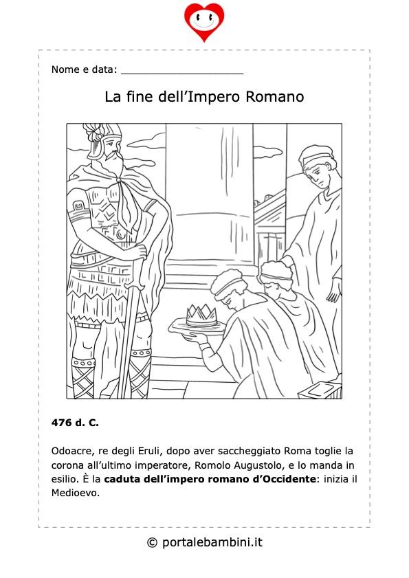 la fine dell'impero romano riassunto per la scuola primaria schede didattiche di storia 2