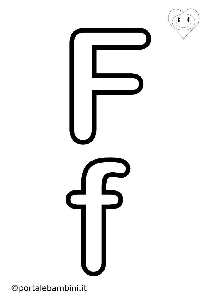 lettere da colorare f