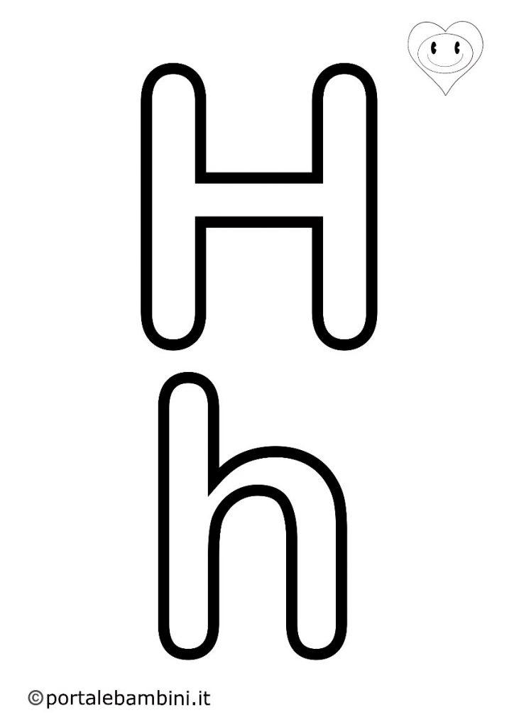 lettere da colorare h