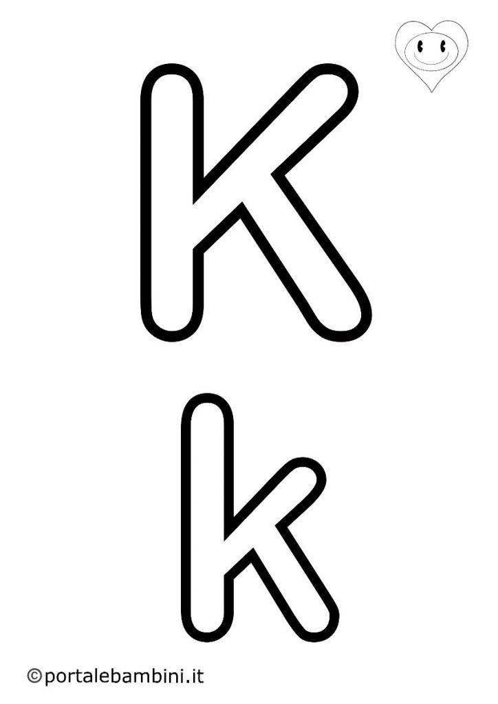 lettere da colorare k