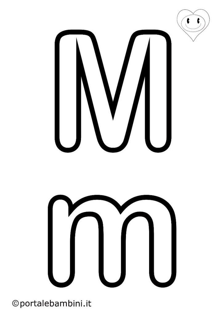 lettere da colorare m