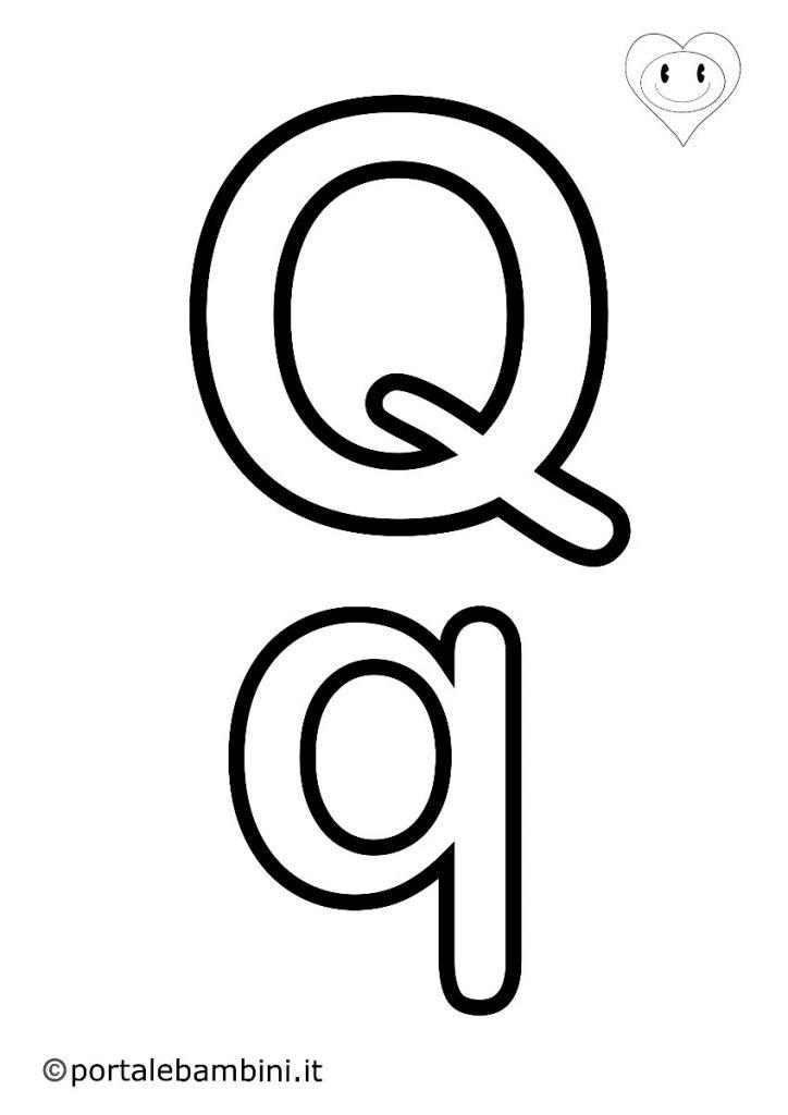 lettere da colorare q