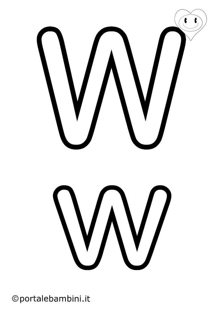 lettere da colorare w