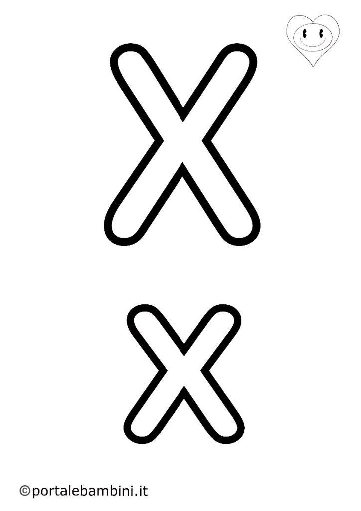 lettere da colorare x