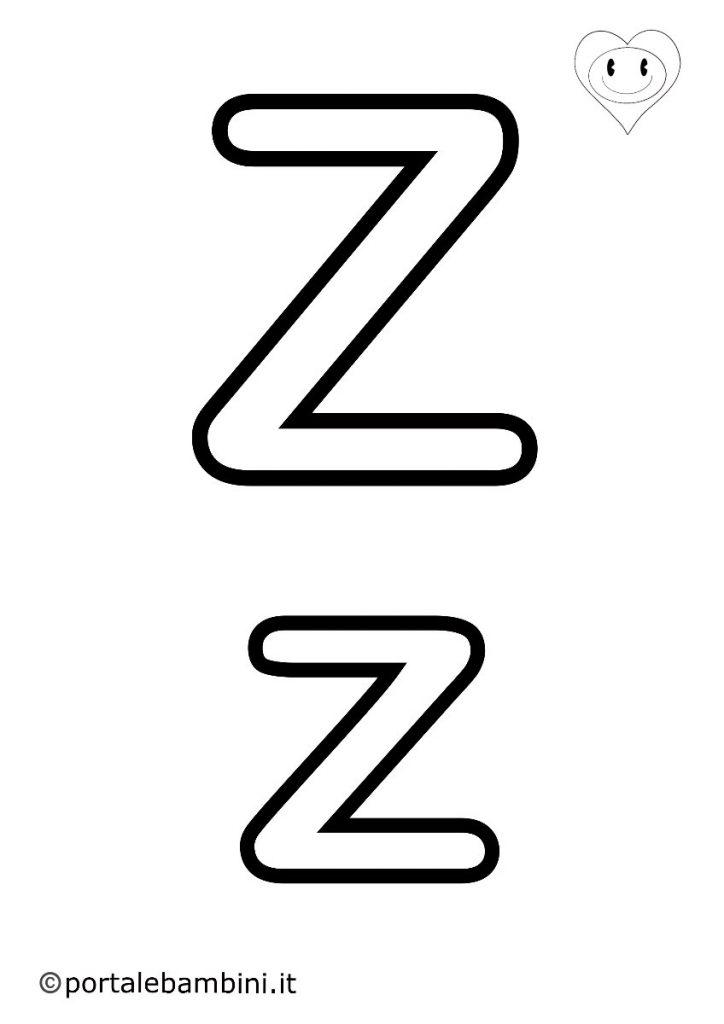lettere da colorare z